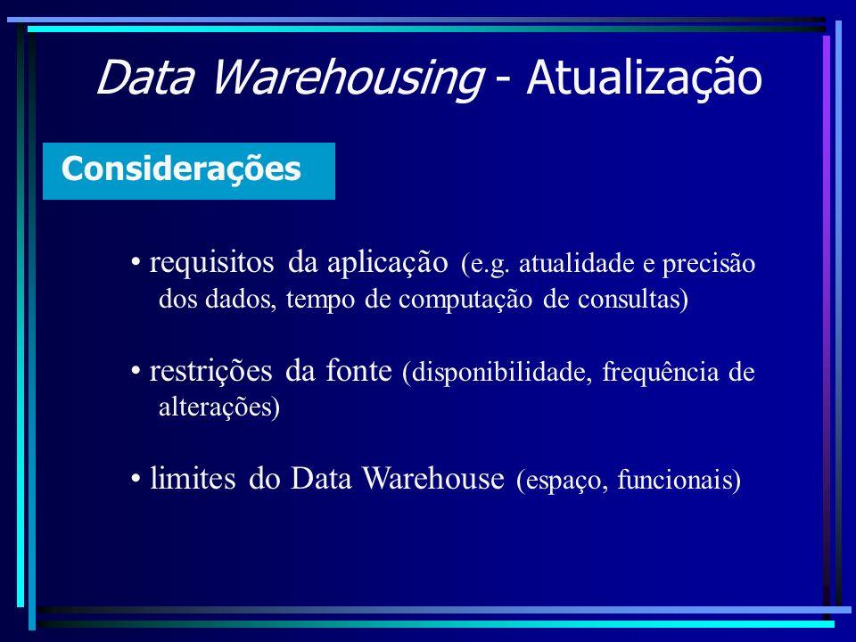 Data Warehousing - Atualização