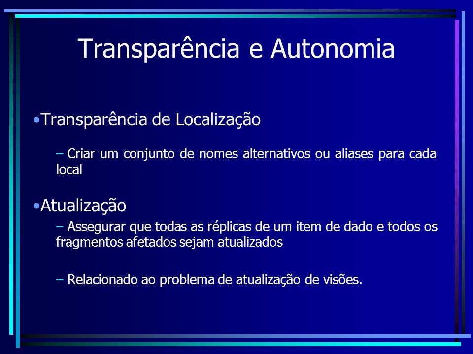 Transparência e Autonomia