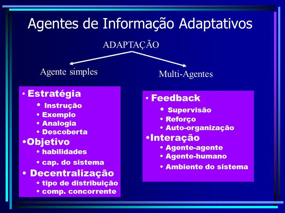 Agentes de Informação Adaptativos