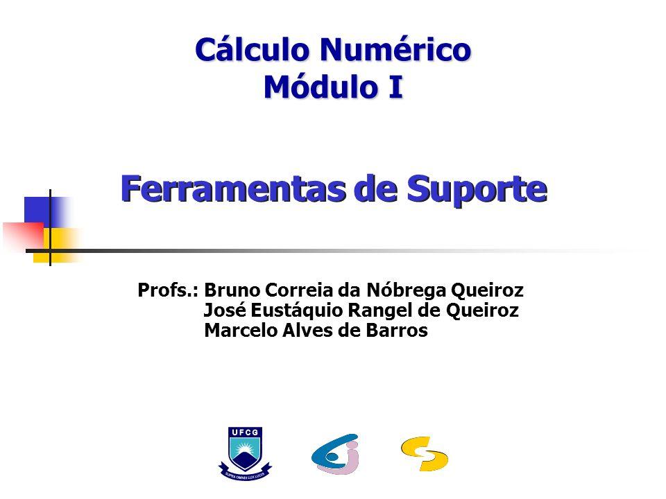 Cálculo Numérico Módulo I Ferramentas de Suporte