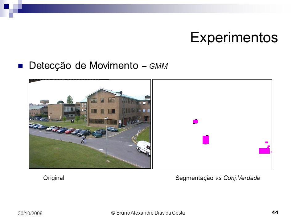 Experimentos Detecção de Movimento – GMM Original