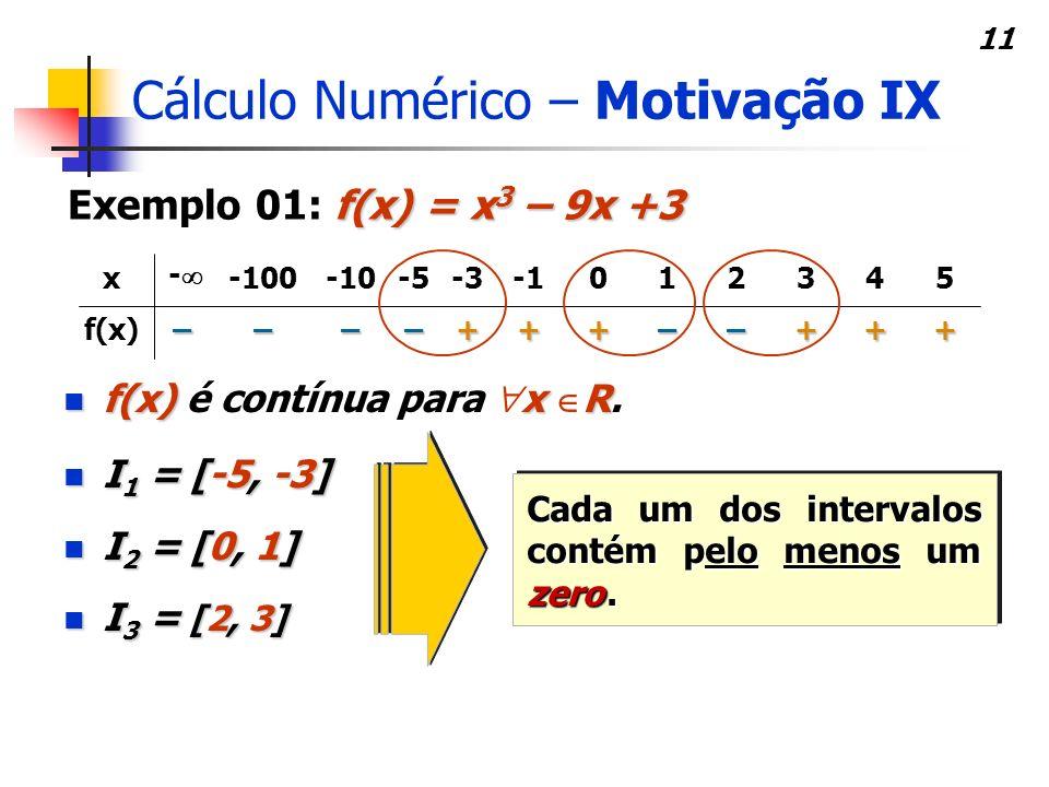 Cálculo Numérico – Motivação IX