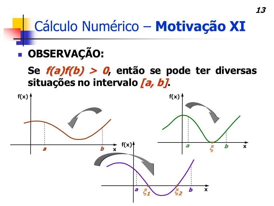 Cálculo Numérico – Motivação XI