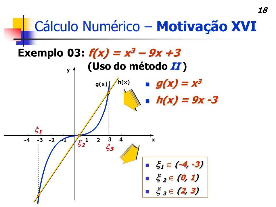 Cálculo Numérico – Motivação XVI
