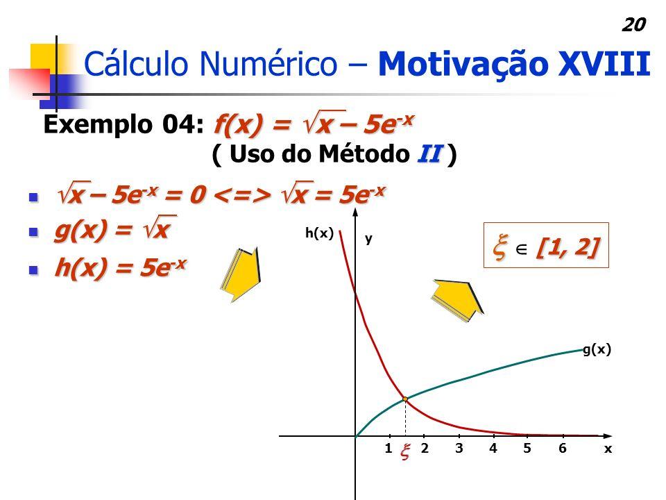 Cálculo Numérico – Motivação XVIII
