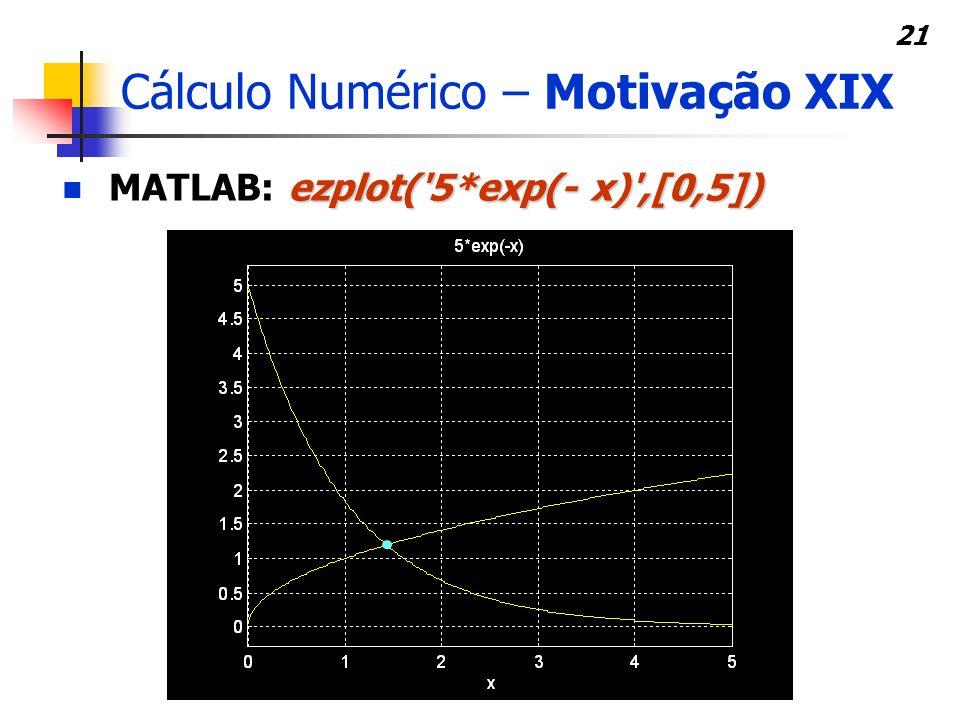 Cálculo Numérico – Motivação XIX