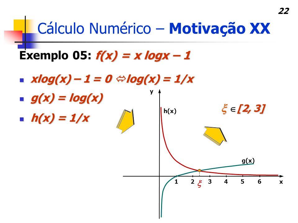 Cálculo Numérico – Motivação XX