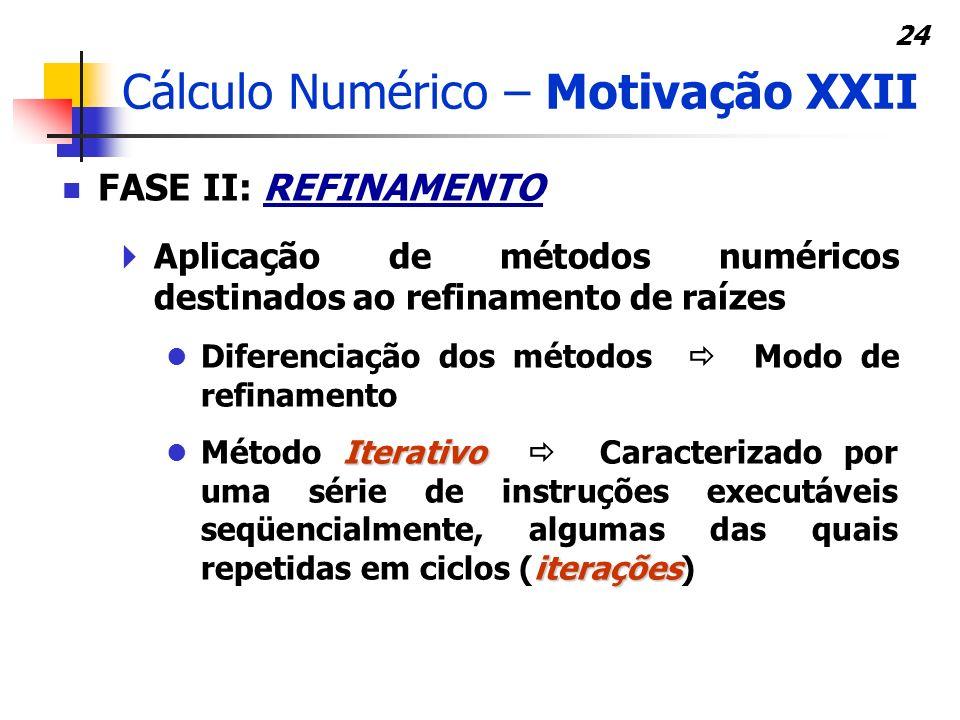 Cálculo Numérico – Motivação XXII