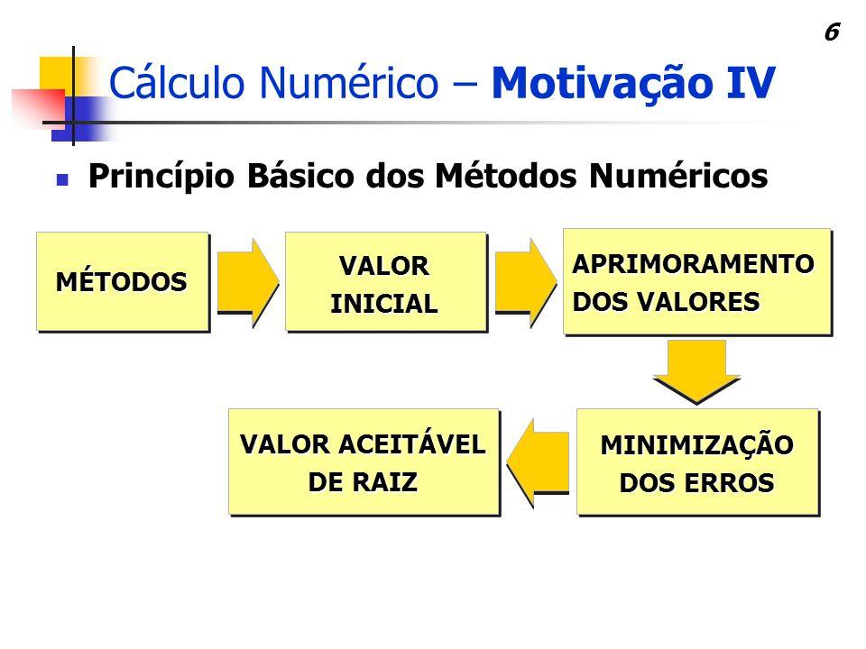 Cálculo Numérico – Motivação IV
