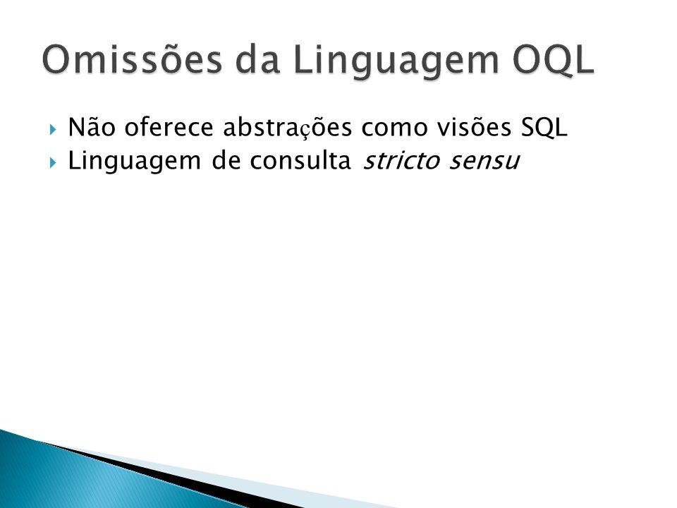 Omissões da Linguagem OQL
