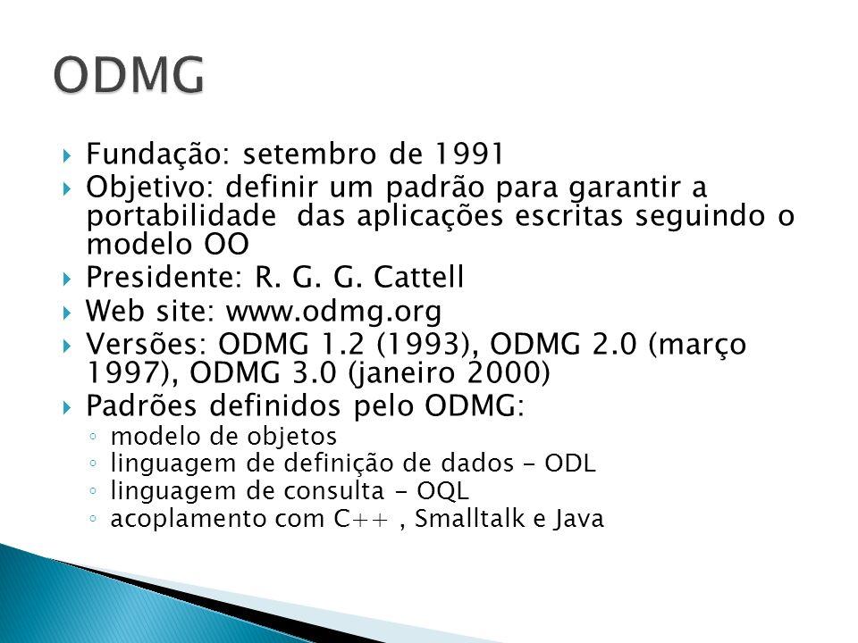 ODMG Fundação: setembro de 1991
