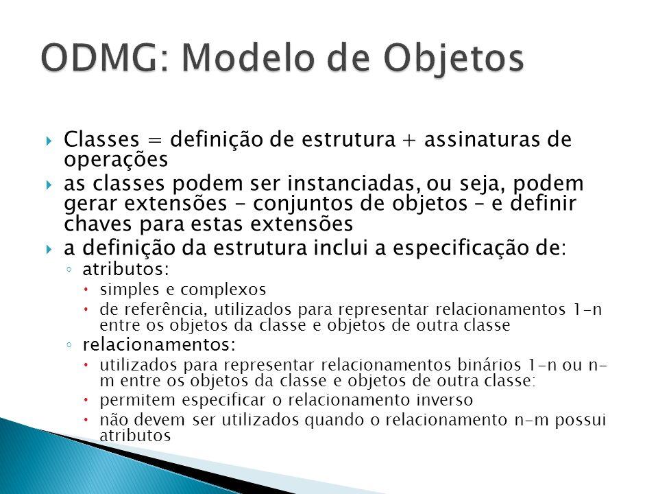 ODMG: Modelo de Objetos