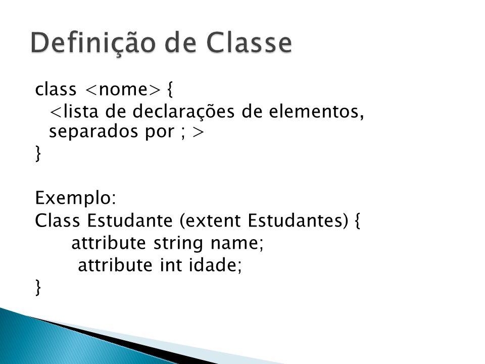 Definição de Classe