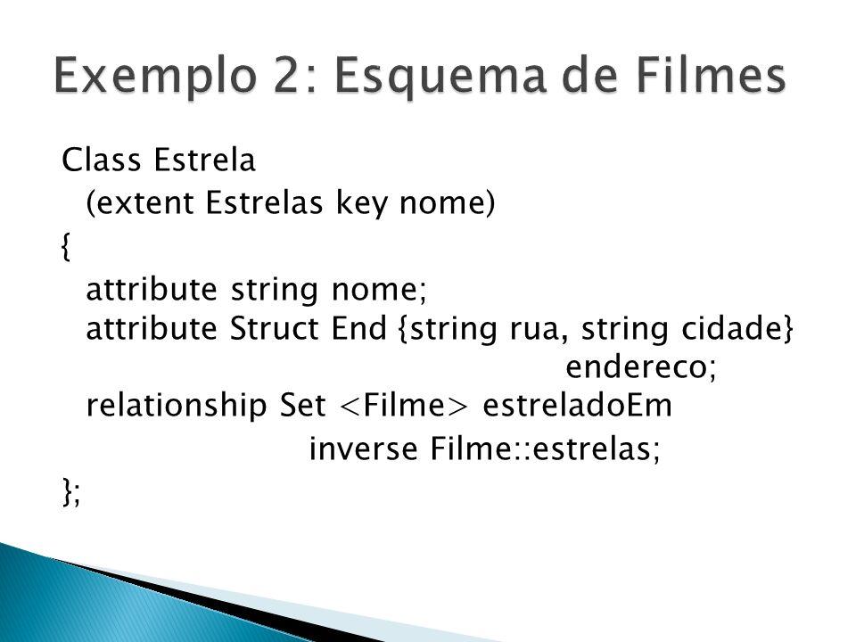 Exemplo 2: Esquema de Filmes