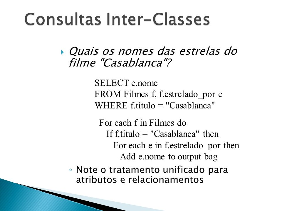 Consultas Inter-Classes