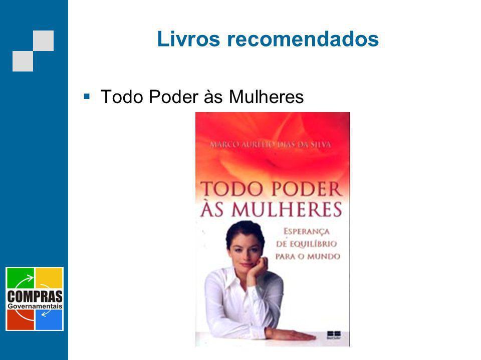 Livros recomendados Todo Poder às Mulheres