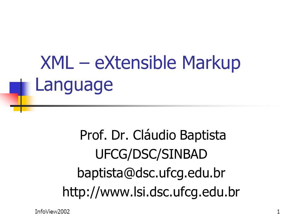 XML – eXtensible Markup Language