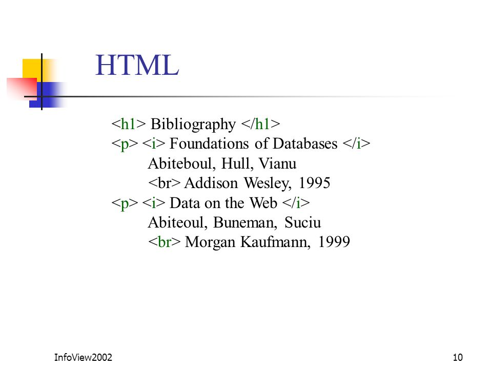 HTML <h1> Bibliography </h1>