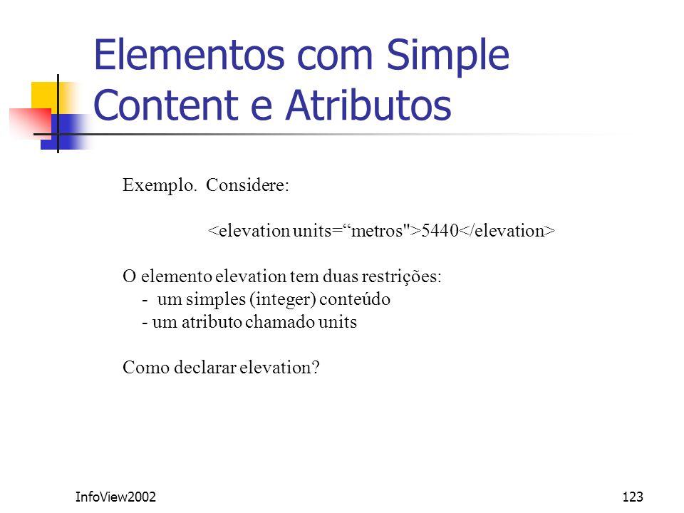 Elementos com Simple Content e Atributos