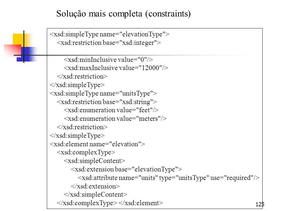 Solução mais completa (constraints)