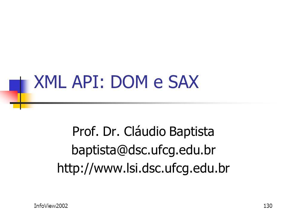 Prof. Dr. Cláudio Baptista