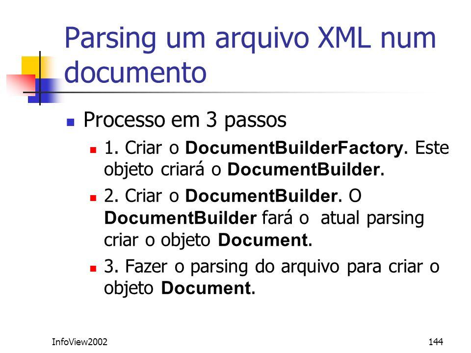 Parsing um arquivo XML num documento