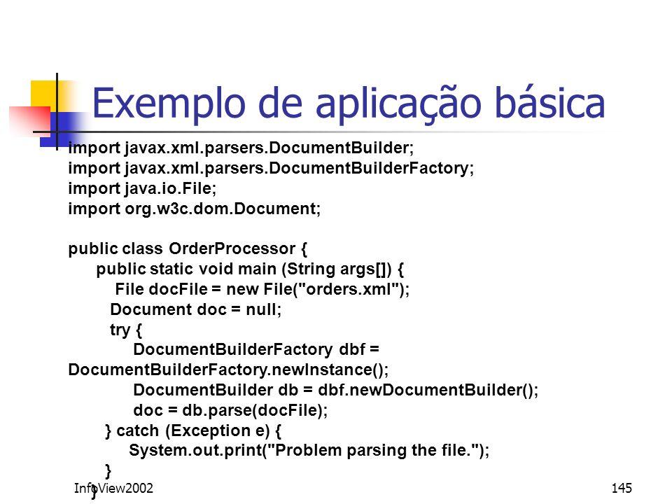 Exemplo de aplicação básica
