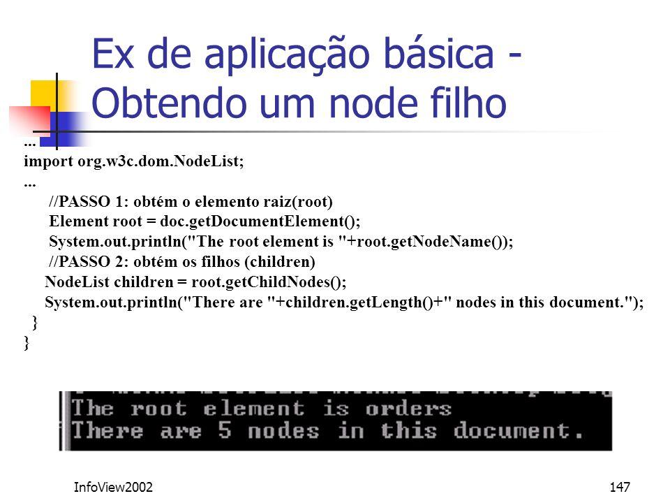 Ex de aplicação básica - Obtendo um node filho