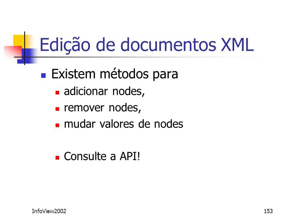 Edição de documentos XML