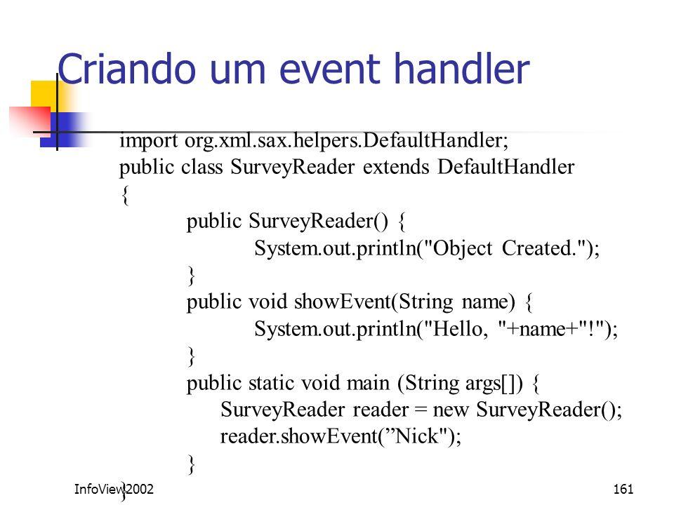 Criando um event handler