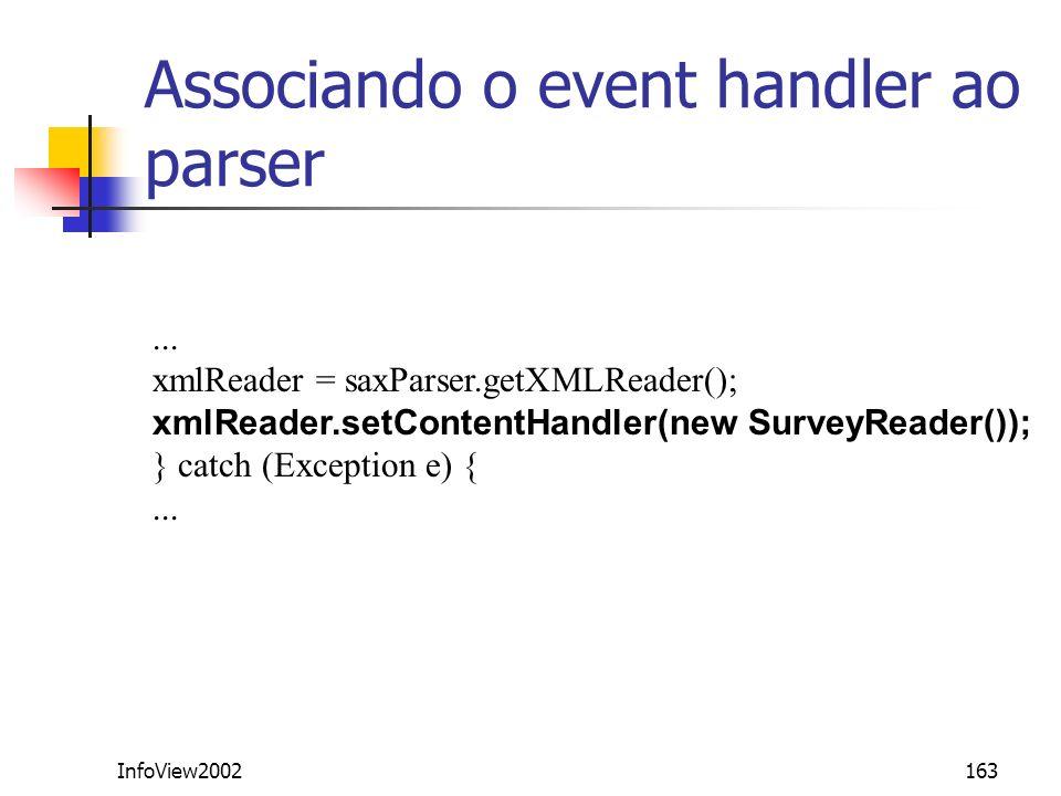 Associando o event handler ao parser