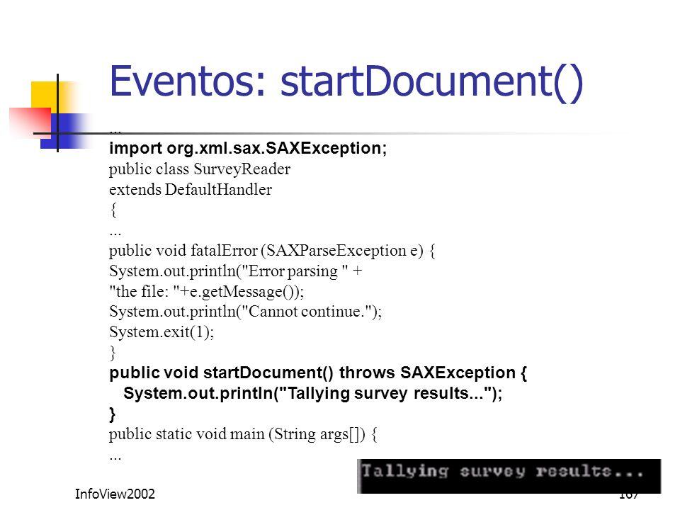 Eventos: startDocument()