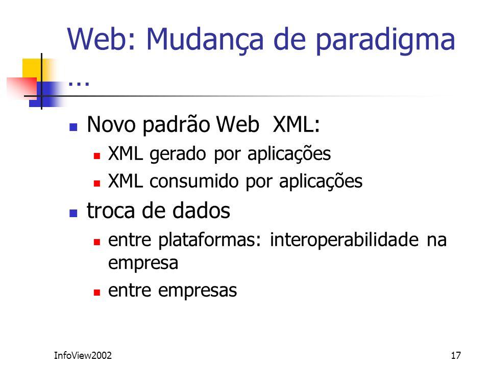 Web: Mudança de paradigma …