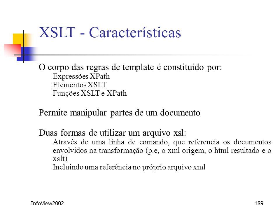 XSLT - Características