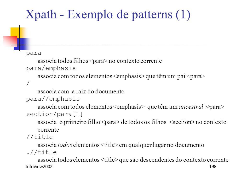Xpath - Exemplo de patterns (1)