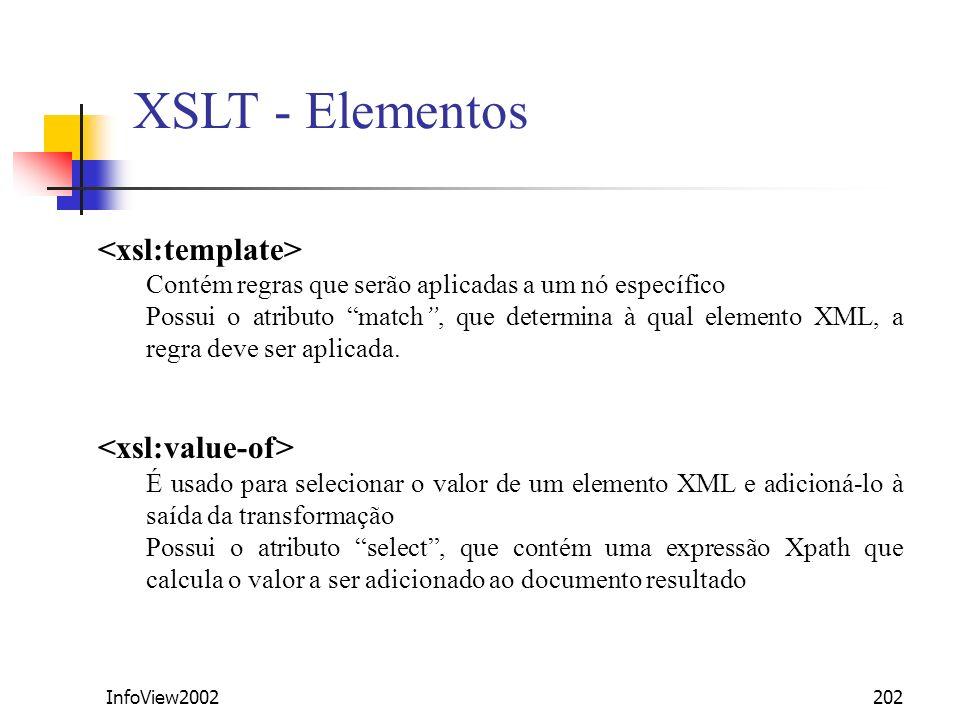XSLT - Elementos <xsl:template> <xsl:value-of>