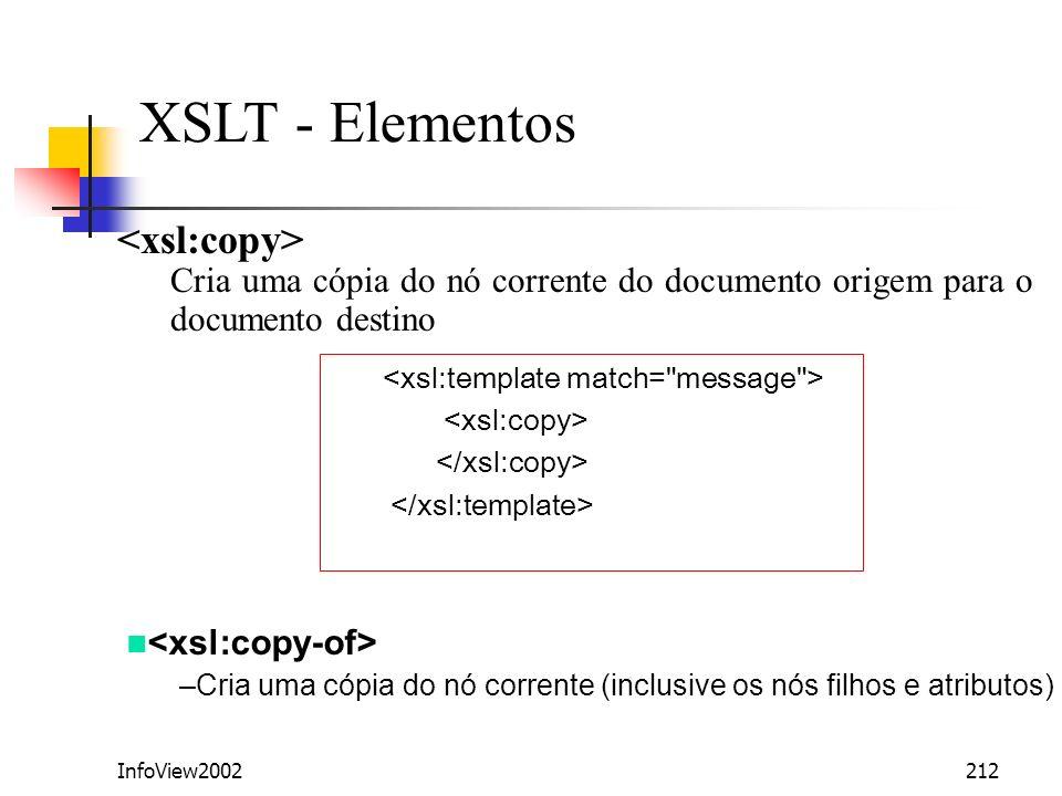 XSLT - Elementos <xsl:copy>