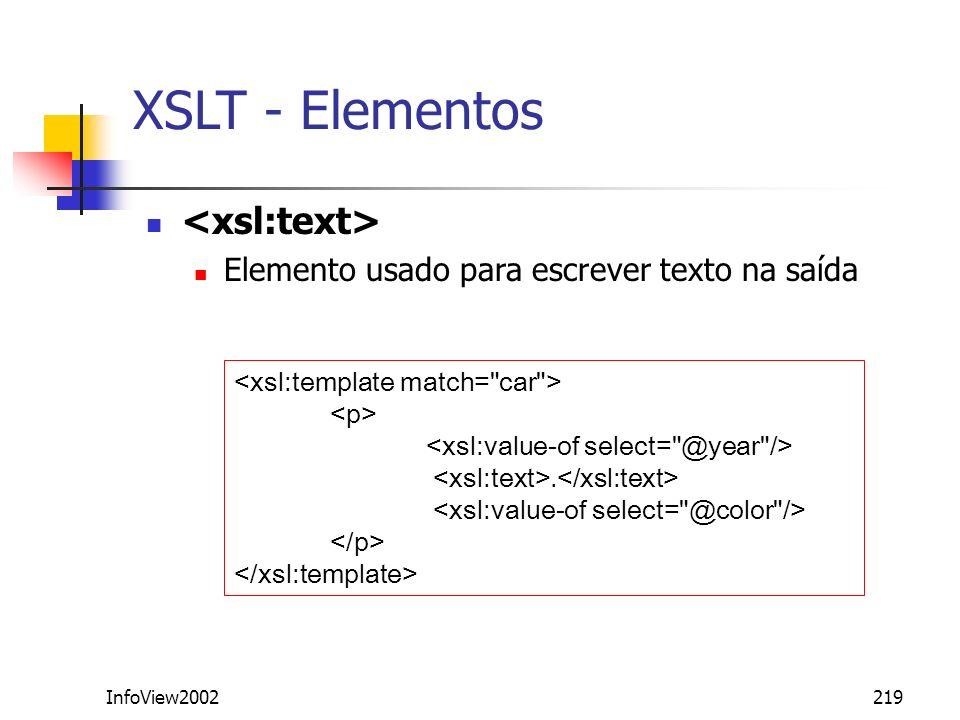 XSLT - Elementos <xsl:text>