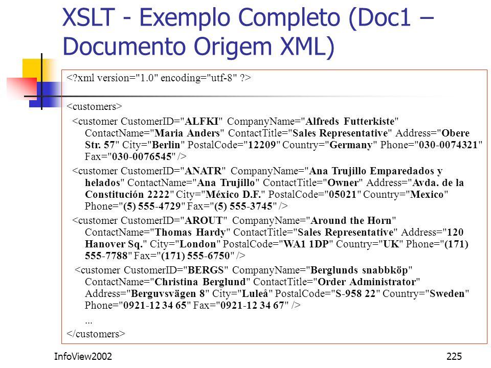 XSLT - Exemplo Completo (Doc1 – Documento Origem XML)
