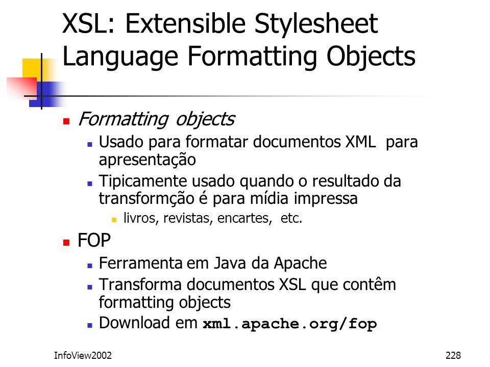 XSL: Extensible Stylesheet Language Formatting Objects