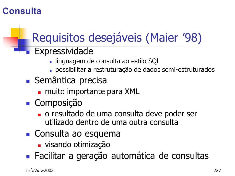 Requisitos desejáveis (Maier '98)