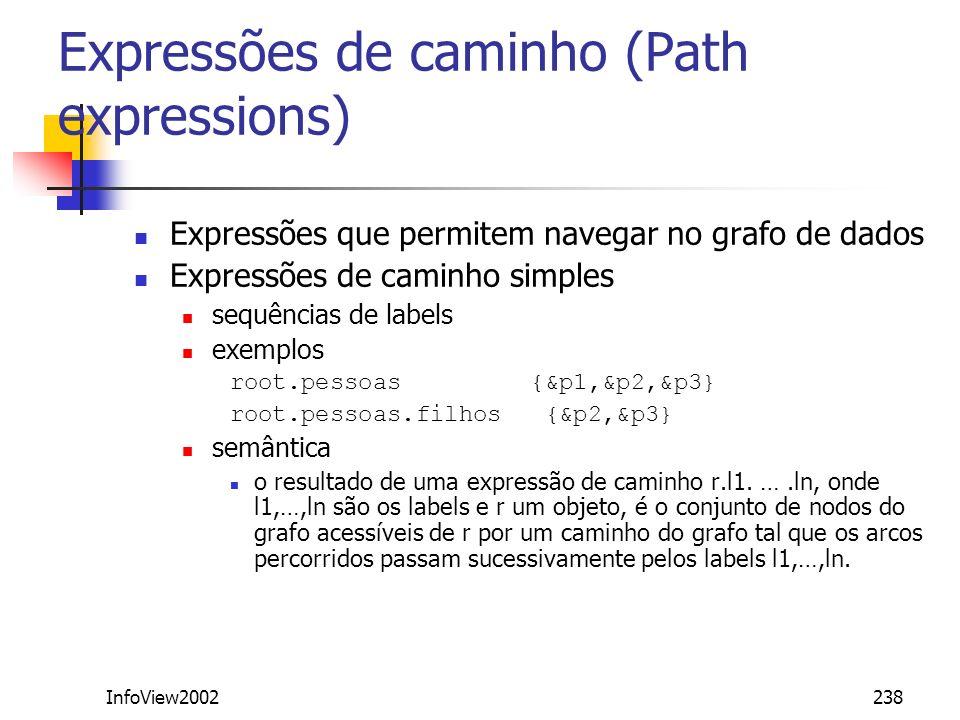 Expressões de caminho (Path expressions)