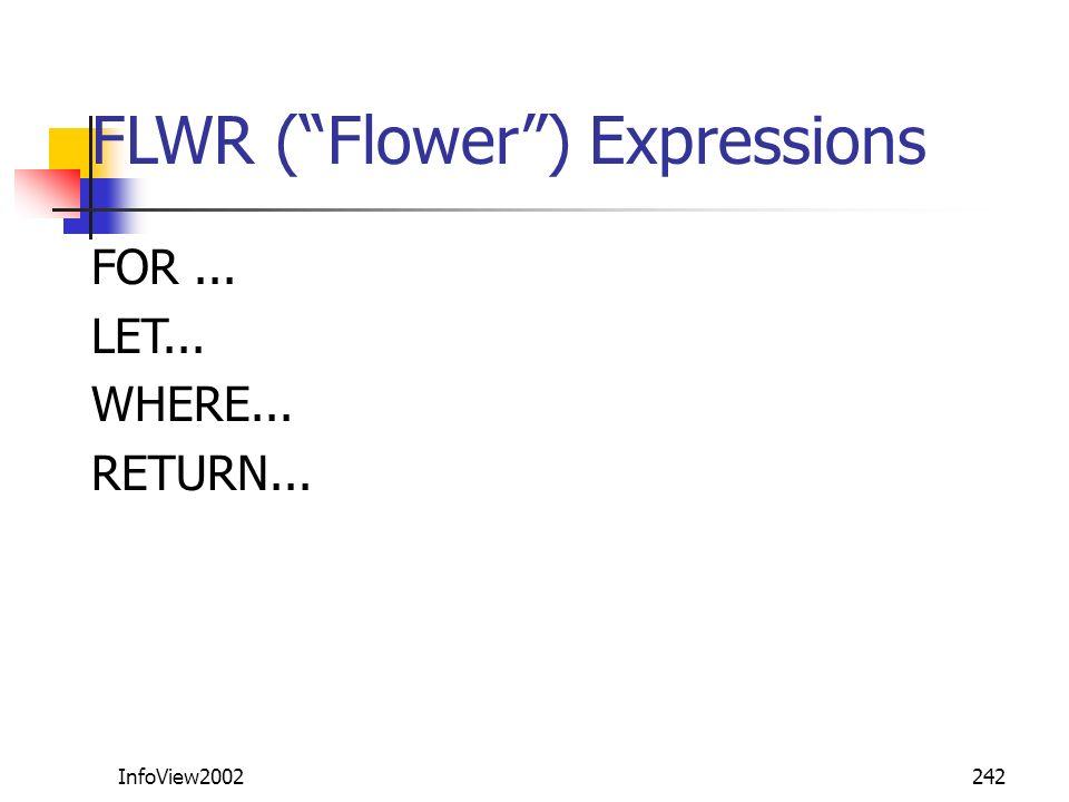 FLWR ( Flower ) Expressions