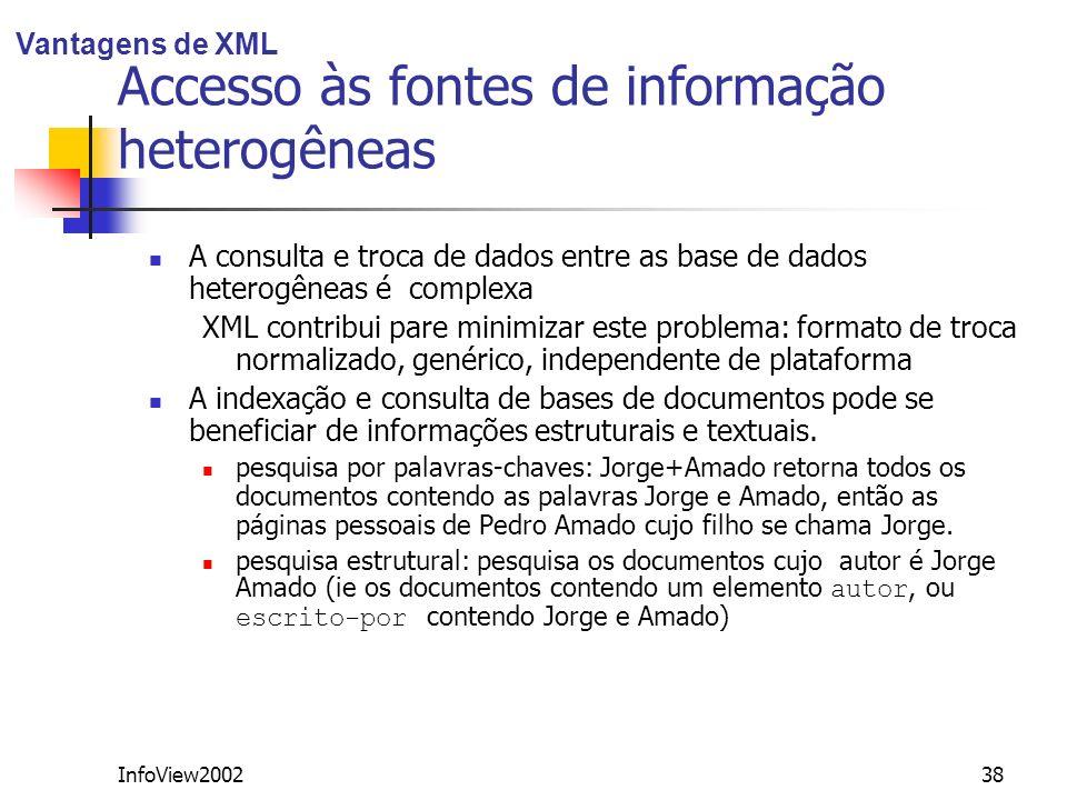 Accesso às fontes de informação heterogêneas