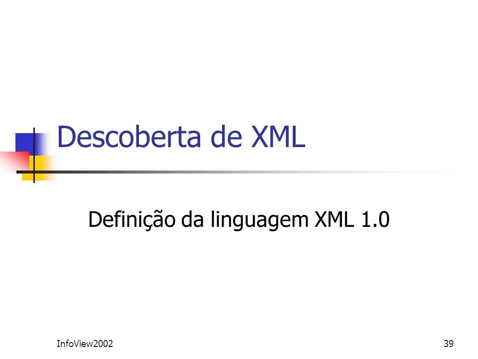 Definição da linguagem XML 1.0