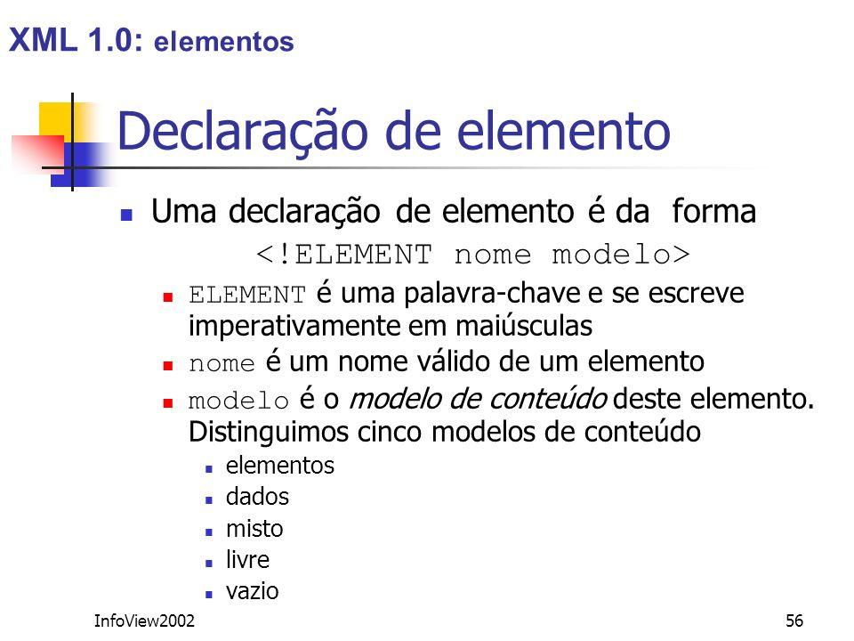 Declaração de elemento