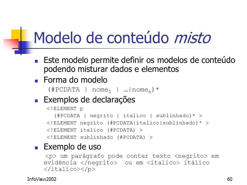 Modelo de conteúdo misto