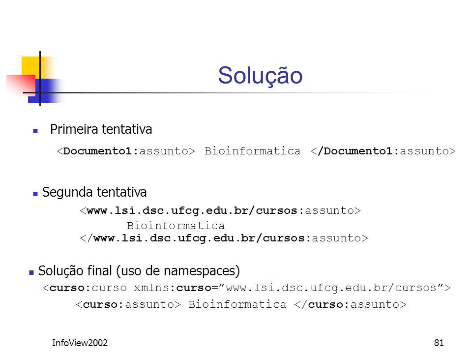 Solução Primeira tentativa. <Documento1:assunto> Bioinformatica </Documento1:assunto> Segunda tentativa.