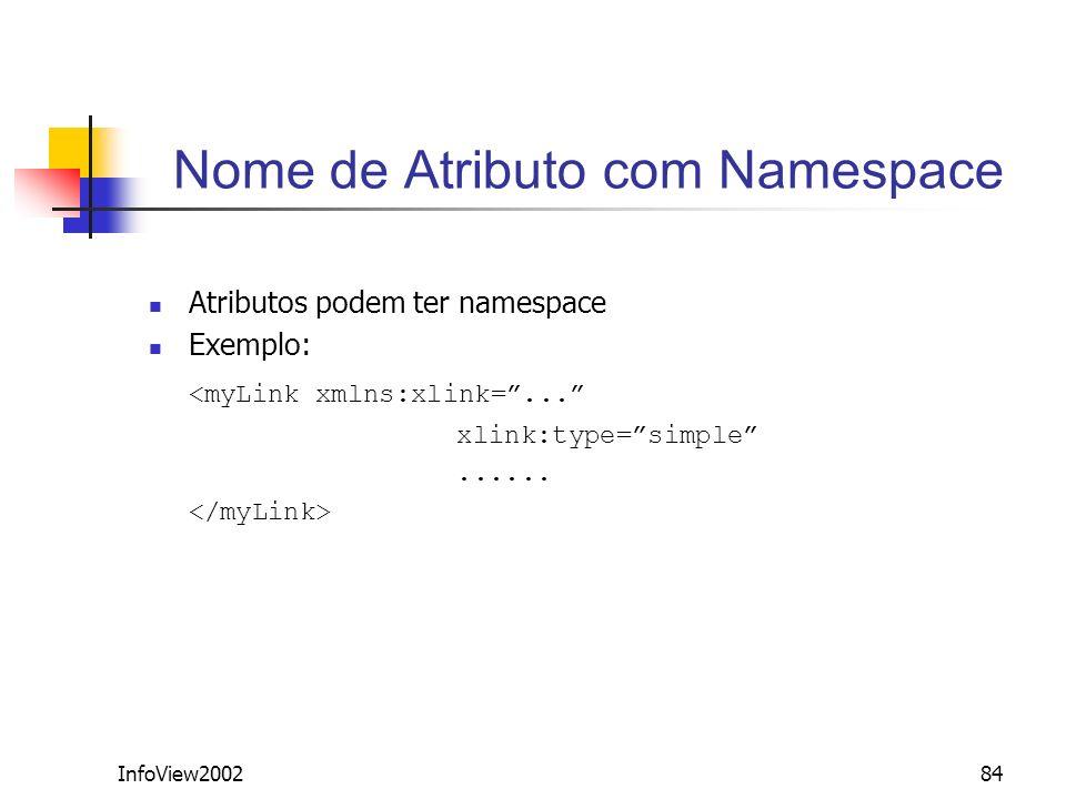 Nome de Atributo com Namespace