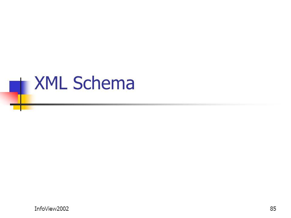 XML Schema InfoView2002